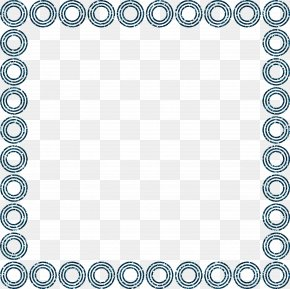 Blue Circle Decorative Frame - Circle Picture Frame Decorative Arts PNG