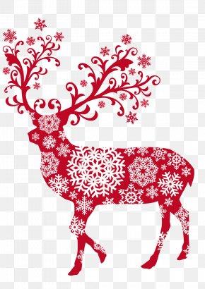 Reindeer - Reindeer Rudolph Santa Claus Christmas PNG