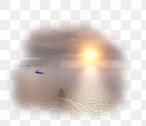 Sunrise At Sea Image Design - Sunlight Sky Computer Wallpaper PNG
