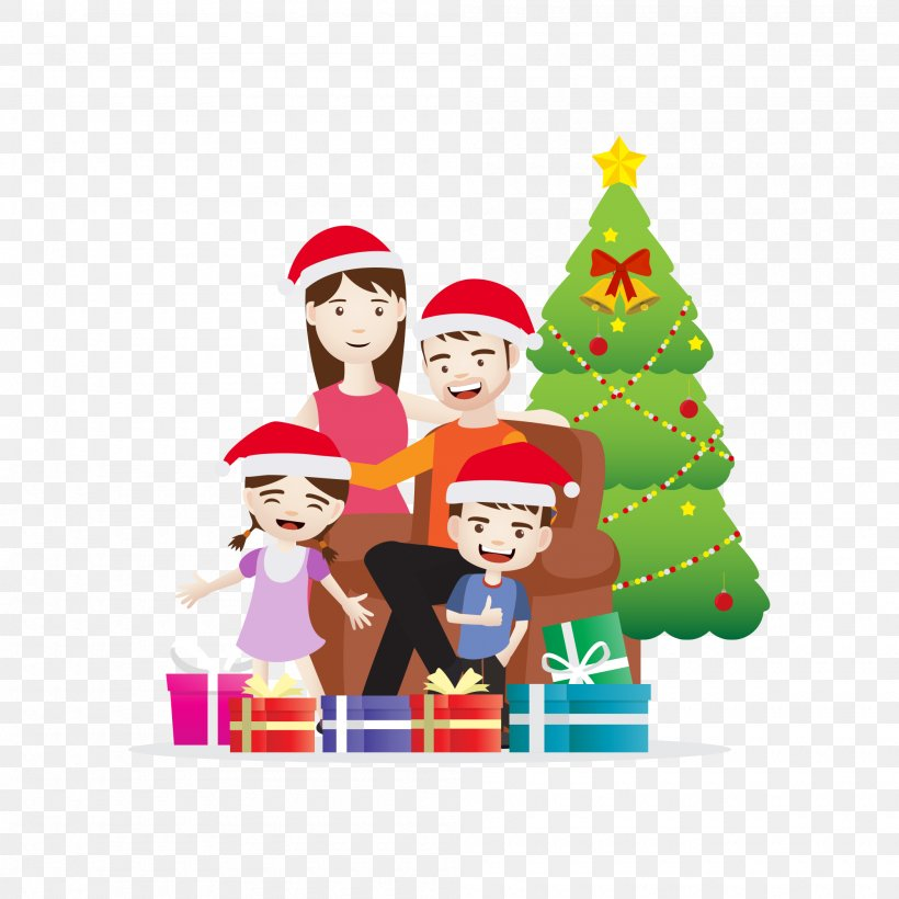 Christmas Day Vector Graphics Illustration Image, PNG, 2000x2000px, Christmas Day, Animation, Cartoon, Christmas, Christmas Decoration Download Free