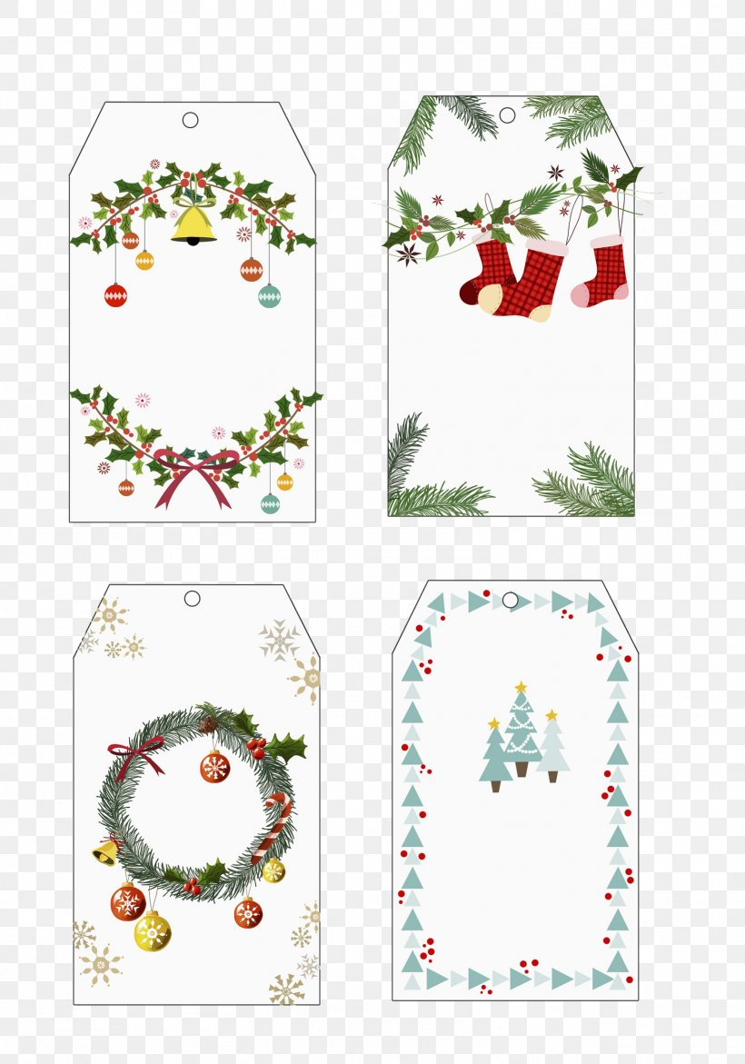 Christmas Card Christmas Tree Etiquette, PNG, 1564x2234px, Christmas, Area, Bookmark, Border, Chart Download Free