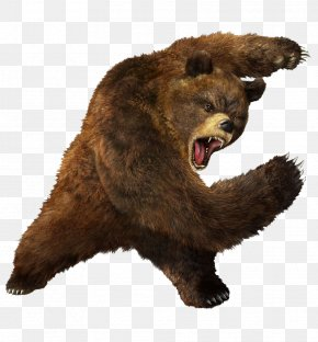 Brown Greezly Bear Image - Tekken 3 Grizzly Bear Heihachi Mishima Brown Bear PNG
