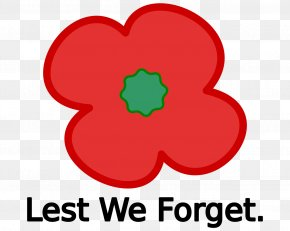 Poppy - Armistice Day Remembrance Poppy Lest We Forget Clip Art PNG