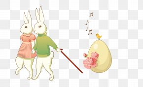 Vector Color Easter Bunny - Easter Bunny Rabbit PNG