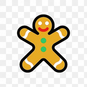 Gingerbread Yellow - Yellow Gingerbread PNG