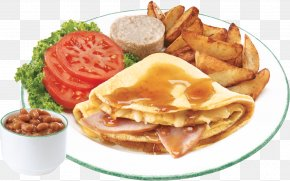 Breakfast - Breakfast Sandwich Cuisine Of The United States Fast Food Take-out Full Breakfast PNG