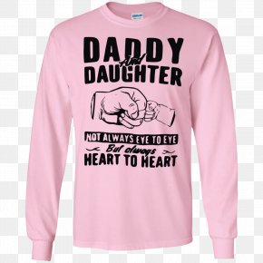 T-shirt - T-shirt Hoodie Father Daughter PNG