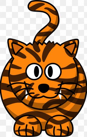 November Calendar Clipart - Bengal Tiger Drawing Cartoon Clip Art PNG