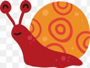 Sea Snail Red - Snail Cartoon PNG
