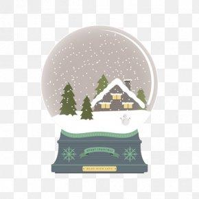 Snow Crystal Ball - Snow Globe Ball Snowflake PNG