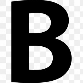 B - Symbol Formatted Text Sign PNG