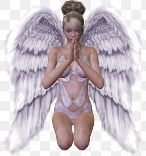 Angel - Angel Wing Prayer Clip Art PNG