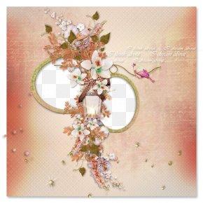 Floral Decorative Circular Frame - Floral Design PNG