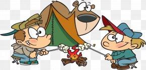 Camping Cartoons - Camping Tent Campsite Clip Art PNG