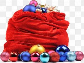 Christmas Bags Material Free Download - Santa Claus Christmas Bag PNG