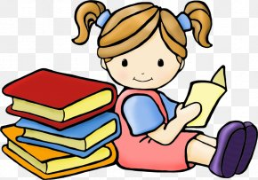 Reading Books Cliparts - Child Reading Free Content Clip Art PNG