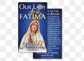 Our Lady Of Fatima - Our Lady Of Fátima Fátima Prayers Holy Card PNG