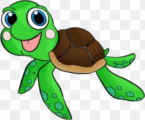 Turtle Illustration - Sea Turtle Infant Swimming Clip Art PNG