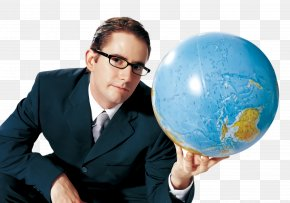 Businessperson Sphere - Globe World Earth Planet Sphere PNG