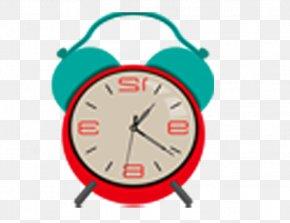 Red Alarm Clock - Alarm Clock Table PNG