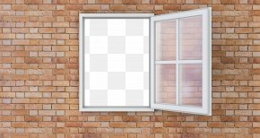 Window - Window Wall Glass Brick Building PNG