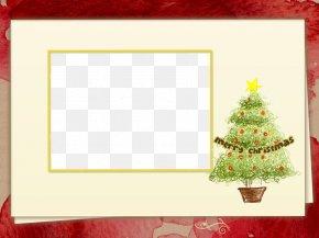 Christmas Tree Yellow Border - Royal Christmas Message Wish Christmas Card Mother PNG