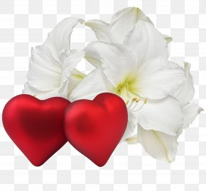 Happy Valentines Day - Love Romance Flower Heart Clip Art PNG