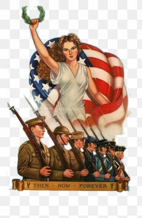Statue Of Liberty And American Soldiers - United States Army Recruiting Command Second World War Uncle Sam PNG