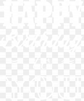 Happy Birthday Clip Art Image - Black And White Point Angle Pattern PNG