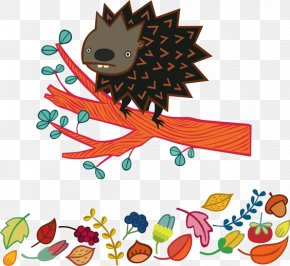 Cartoon Hedgehog - Drawing Cartoon Illustration PNG