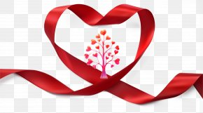 Heart-shaped Red Ribbon - Ribbon Shutterstock Illustration PNG