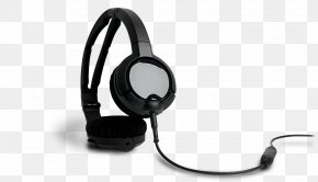 Wearing A Headset - Microphone Headphones SteelSeries Phone Connector Video Game PNG