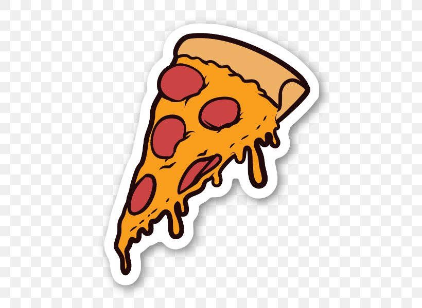 Pizza Sticker Decal Food Italian Cuisine, PNG, 505x600px, Pizza, Cheese, Decal, Drawing, Food Download Free