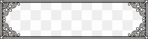 Classic Lace Black Frame - Black And White Picture Frame Brand Pattern PNG