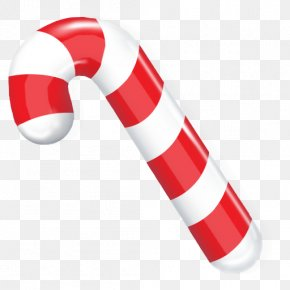 Christmas Candy - Candy Cane Lollipop PNG
