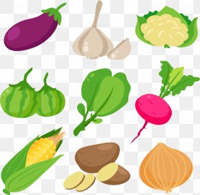 Healthy Eating Green Vegetables - Leaf Vegetable Cartoon Clip Art PNG