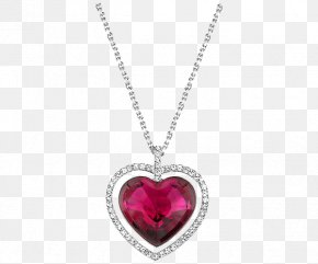 Swarovski Jewellery Ladies Garnet Necklace - Pendant Jewellery Earring Swarovski AG Necklace PNG