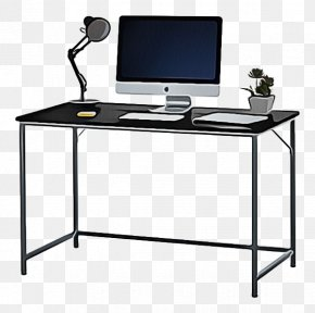 Desktop Computer Electronic Device - Desk Furniture Computer Desk Computer Monitor Accessory Table PNG