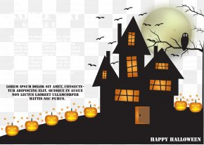 Vector Halloween Madhouse - Halloween Haunted Attraction Disguise Vector PNG