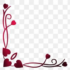 Heart Border - Love Blogger Valentine's Day PNG