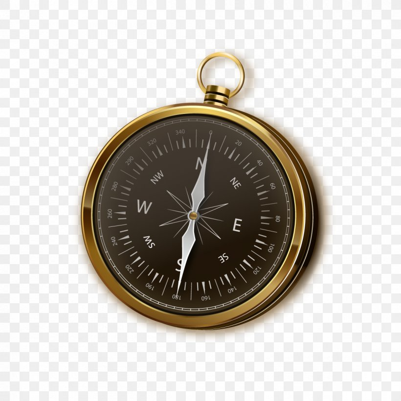 Compass Euclidean Vector Icon, PNG, 1200x1200px, Compass, Brass, Gratis, Map, Measuring Instrument Download Free