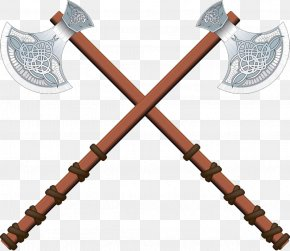 Two Axes Cross - Axe Celts Illustration PNG