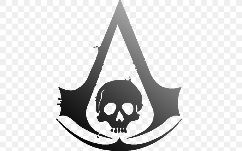 Assassin's Creed IV: Black Flag Assassin's Creed Unity Assassin's Creed: Origins Assassin's Creed Syndicate Assassin's Creed III, PNG, 512x512px, Assassins, Black And White, Bone, Symbol, Video Games Download Free