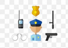 Police Handcuffs Gun - Police Officer Handcuffs PNG