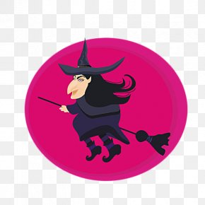 A Cartoon Witch Riding A Magic Broom - Drawing Stock Photography Royalty-free Illustration PNG