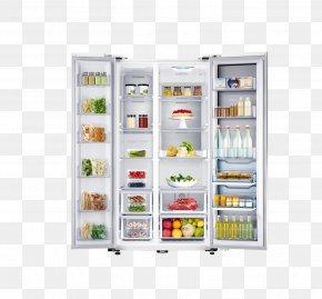 Refrigerator - Refrigerator Home Appliance Food Samsung Haier PNG
