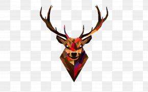 Deer Head Transparent Background - Red Deer Head Antler Wallpaper PNG