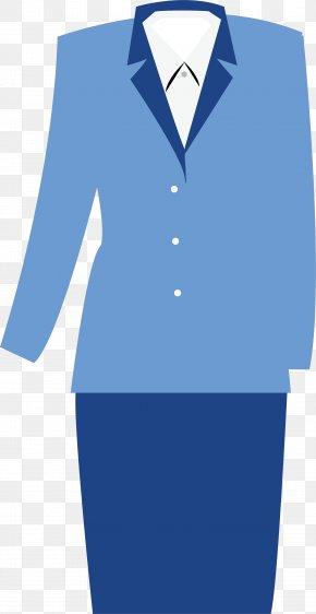 Women's Frock - Tuxedo Uniform Woman Clothing PNG