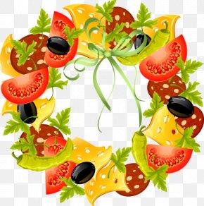 Fruit Garden Cliparts - Wedding Invitation Brunch Antipasto Pizza Italian Cuisine PNG