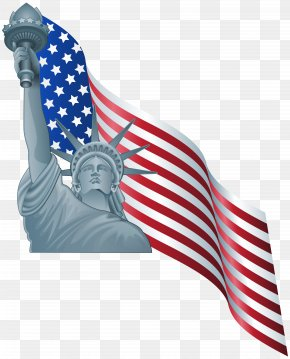 American Flag And Statue Of Liberty Clip Art - Statue Of Liberty Clip Art PNG